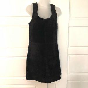Retro style suede shift dress